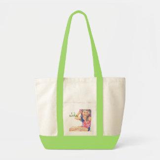 Little Hawaiian Beach Girl Tote Bag