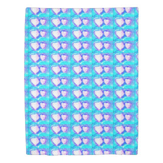 little hearts background duvet cover
