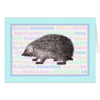 Little Hedgehog Greeting Card