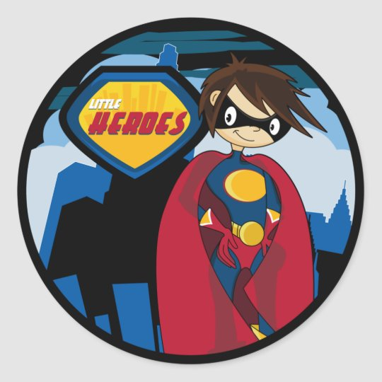 Little Heroes Superhero Sticker Sheet