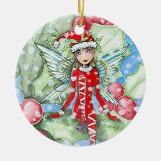 Little Holly Fairy Ornament