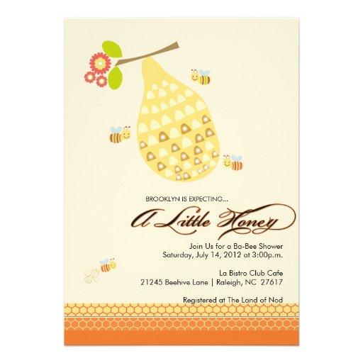 Little Honey Bee Baby Shower Invitation
