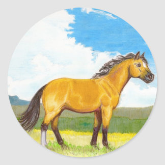 Little Horse on the Prairie Round Stickers