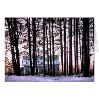 Little house in the woods card