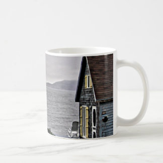 Little house looking at the St.Lawrence River Coffee Mug