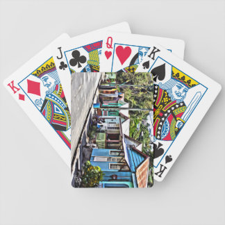 Little houses in Ste-Lucia Bicycle Playing Cards