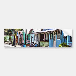 Little houses in Ste-Lucia Bumper Sticker