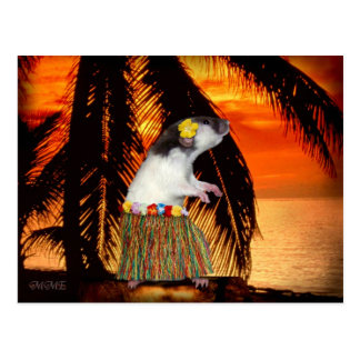 Little Hula Honey Postcard