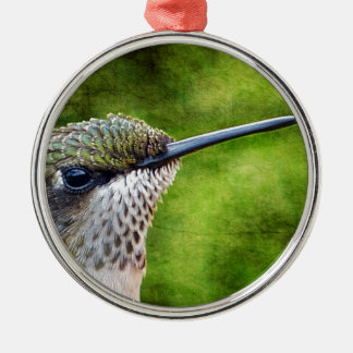 Little Hummer Silver-Colored Round Ornament