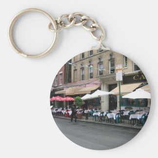 Little Italy Cafe Basic Round Button Keychain