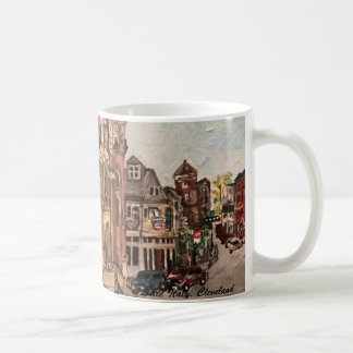 Little Italy, Cleveland Ohio Painting on a Mug
