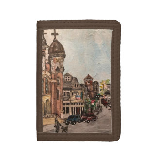 Little Italy, Cleveland Painting Brown Wallet
