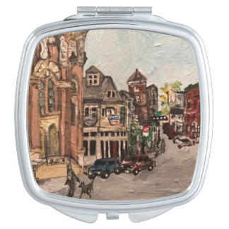 Little Italy, Cleveland Painting Compact Mirror
