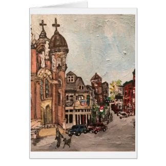 Little Italy, Cleveland Painting Greeting Card