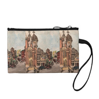 Little Italy, Cleveland Painting Key Coin Clutch