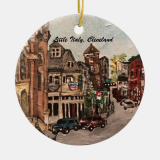 Little Italy, Cleveland, Painting on Ornament