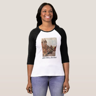 Little Italy Cleveland Painting on Women's T-Shirt