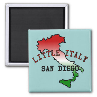Little Italy San Diego Square Magnet