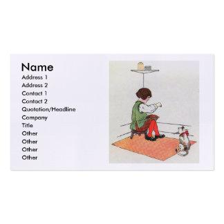 Little Jack Horner  Sat in the corner Pack Of Standard Business Cards