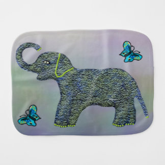 Little Jade Elephant Burp Cloth