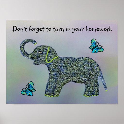 Little Jade Elephant Classroom Motivational Poster