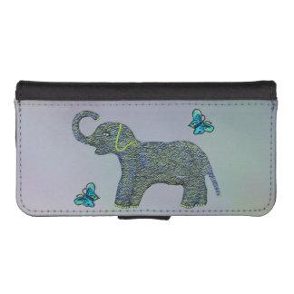 Little Jade Elephant iPhone SE/5/5s Wallet Case
