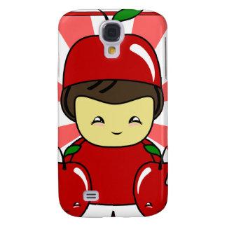 Little Kawaii Apple Boy With Apples Galaxy S4 Cases