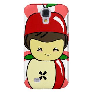 Little Kawaii Apple Boy With Seeds Samsung Galaxy S4 Case