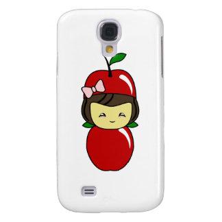 Little Kawaii Apple Girl Galaxy S4 Cases