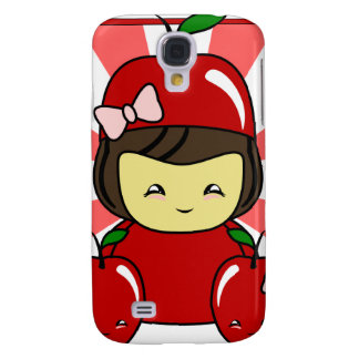 Little Kawaii Apple Girl With Apples Galaxy S4 Cases