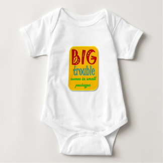 Little kids can be BIG trouble Baby Bodysuit