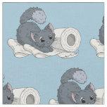 Little Kitten on Toilet paper Fabric