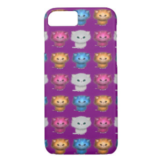 Little Kittens Pattern Tabby Persian Kitties iPhone 7 Case