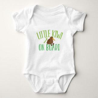 Little kiwi on board (Cute New Zealand maternity) Baby Bodysuit