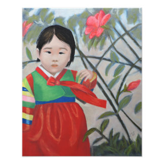 Little Korean Girl Print