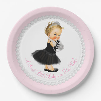Little Lady Baby Shower 9 Inch Paper Plate