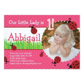 Little Lady's Birthday - Ladybugs Card