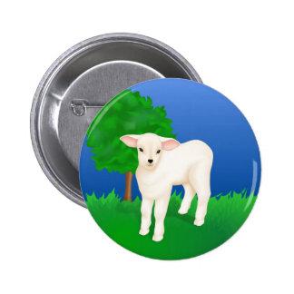 Little Lamb 2 Inch Round Button