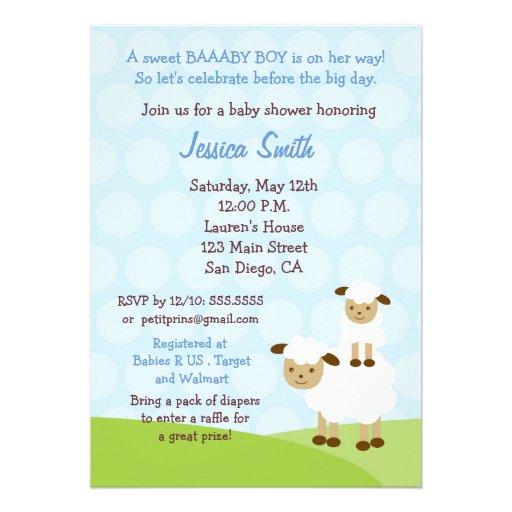 little lamb baby shower invitation 5 x 7 invitation card zazzle