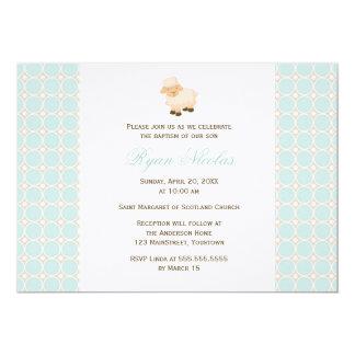 "Little Lamb Baptism 5"" X 7"" Invitation Card"