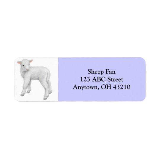 Little Lamb Customizable Label