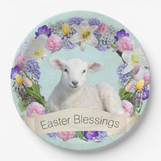 Little Lamb Easter Paper Plate
