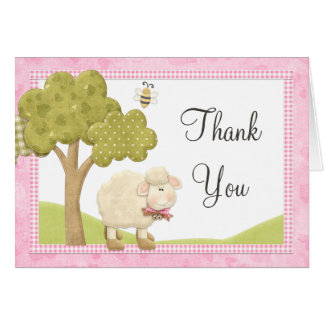 Little Lamb Thank You Card