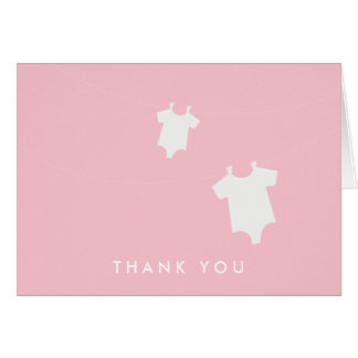 {little laundry}  baby shower thank you card