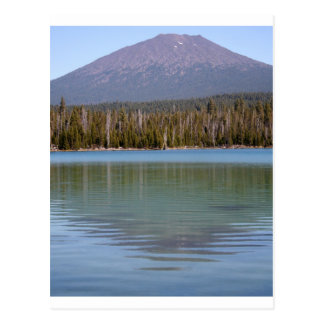 Little Lava Lake & Volcano Postcard