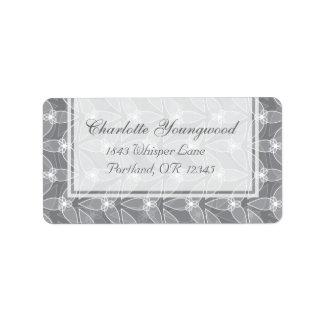 Little Leaf Elegant Address Labels - Grey