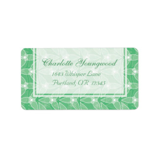 Little Leaf Elegant Address Labels - Mint
