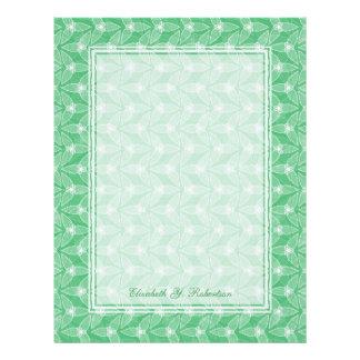 Little Leaf Personalized Letterhead - Mint