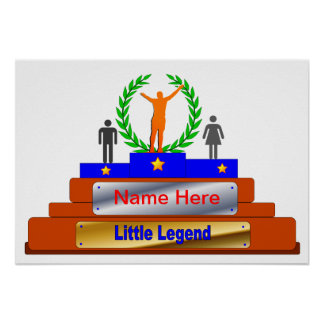 Little Legend Award. Customize with Name Poster