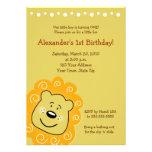 Little Leo Lion BIRTHDAY Invitation 5 x 7